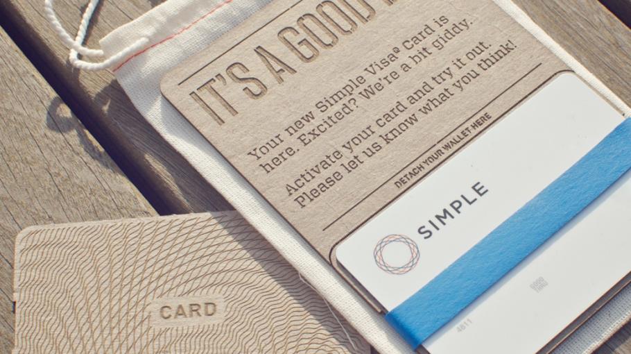 Simple bankkártya