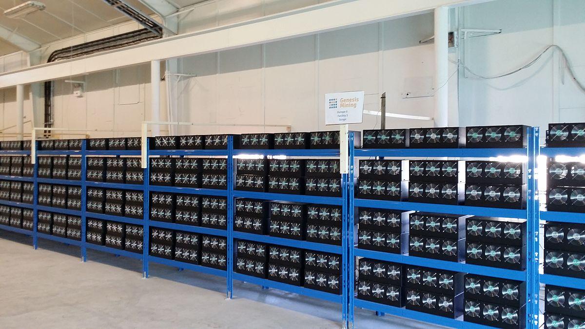 Nagyon kicsi bitcoin bánya, a normál méretűek termeket töltenek meg (Fotó: Wikimedia Commons)