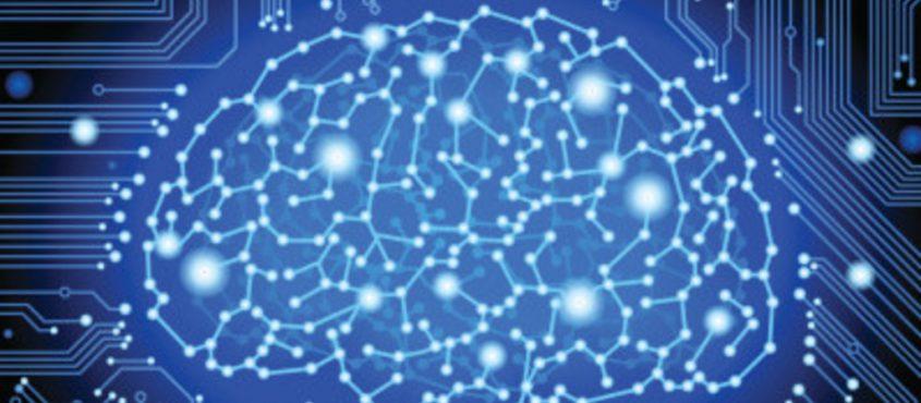 Valójában nehéz ábrázolni a mesterséges intelligenciát. Az biztos, hogy nem egy kék ledekből álló agy. (Forrás: Wikimedia Commons / CC)
