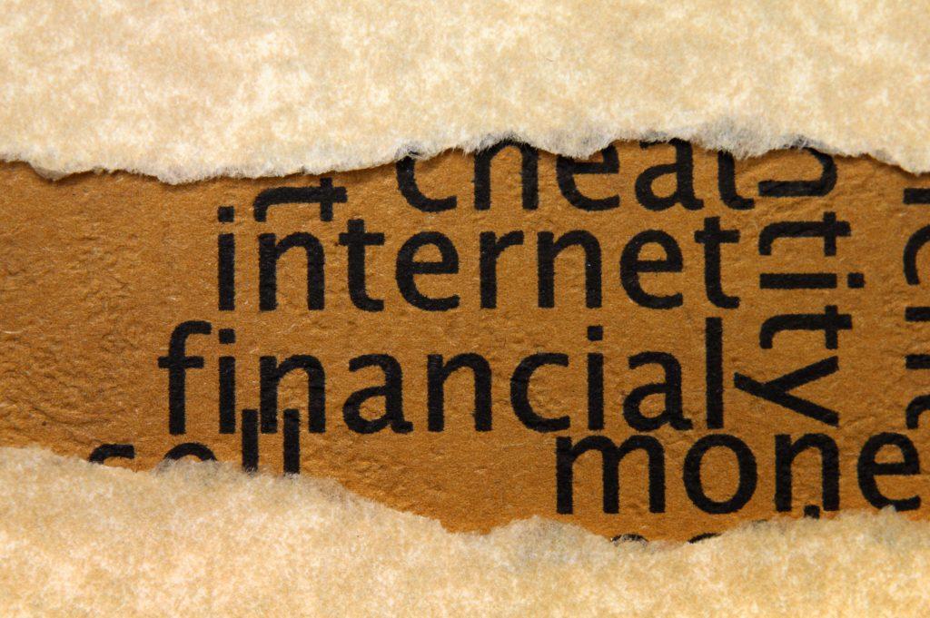 Internet financial concept