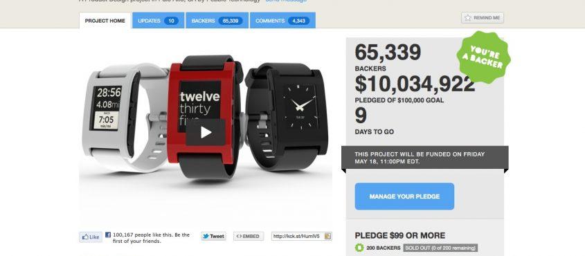 A Pebble a Kickstarter egyik nagy sikere volt, mára visszatérő szereplője az oldalnak