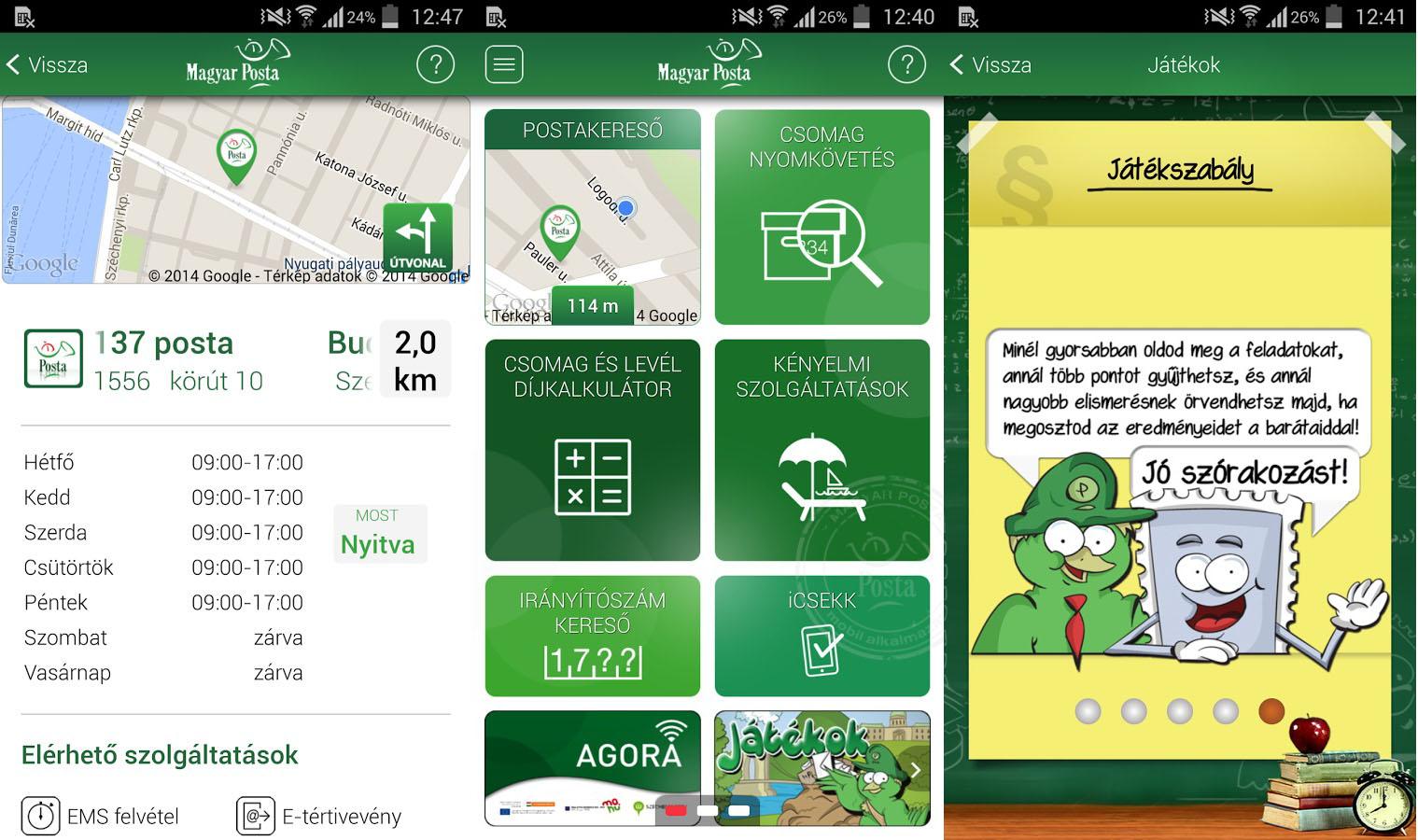 A csekkfizetés mellett akadnak még funkciók a Posta appjában