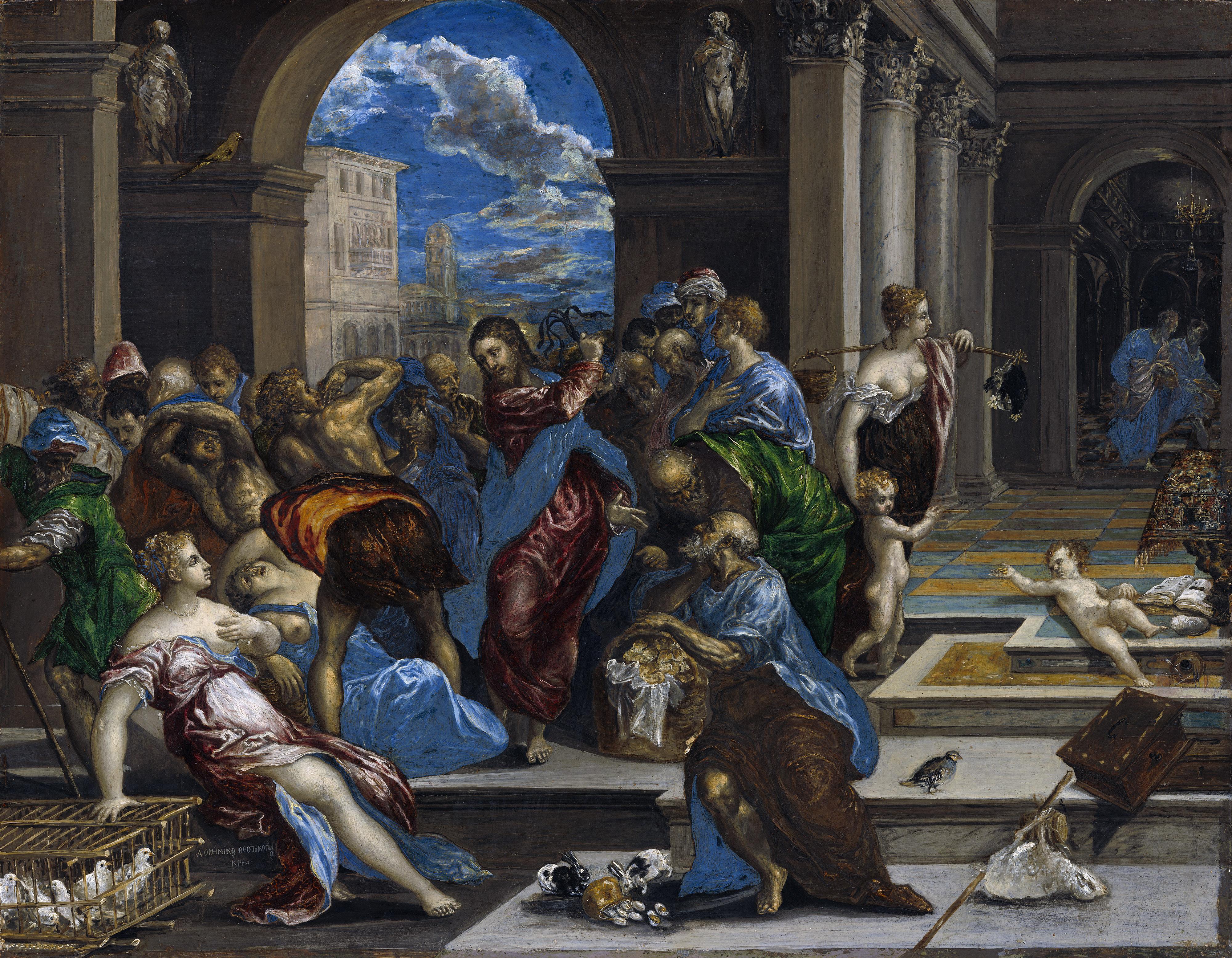 Jézus kikergeti a fintech vállalkozókat a templomból - El Greco festménye (Forrás: Wikimedia Commons)