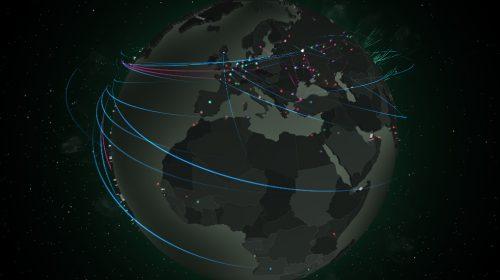 (Forrás: Kaspersky Cyberthreat Map)