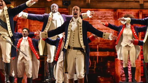 Lin-Manuel Miranda a Hamilton címszerepében (Fotó: Theo Wargo / Getty Images Entertainment)