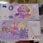 A 0 eurós bankjegy. Fotó: Harald Tittel/AFP