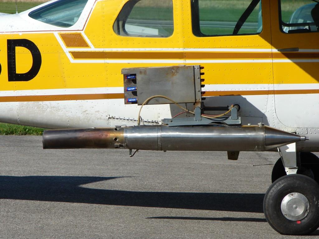 Ezüstjodid-szóró repülőgép (Forrás: Wikimedia Commons / Christian Jansky / CC-BY-SA)