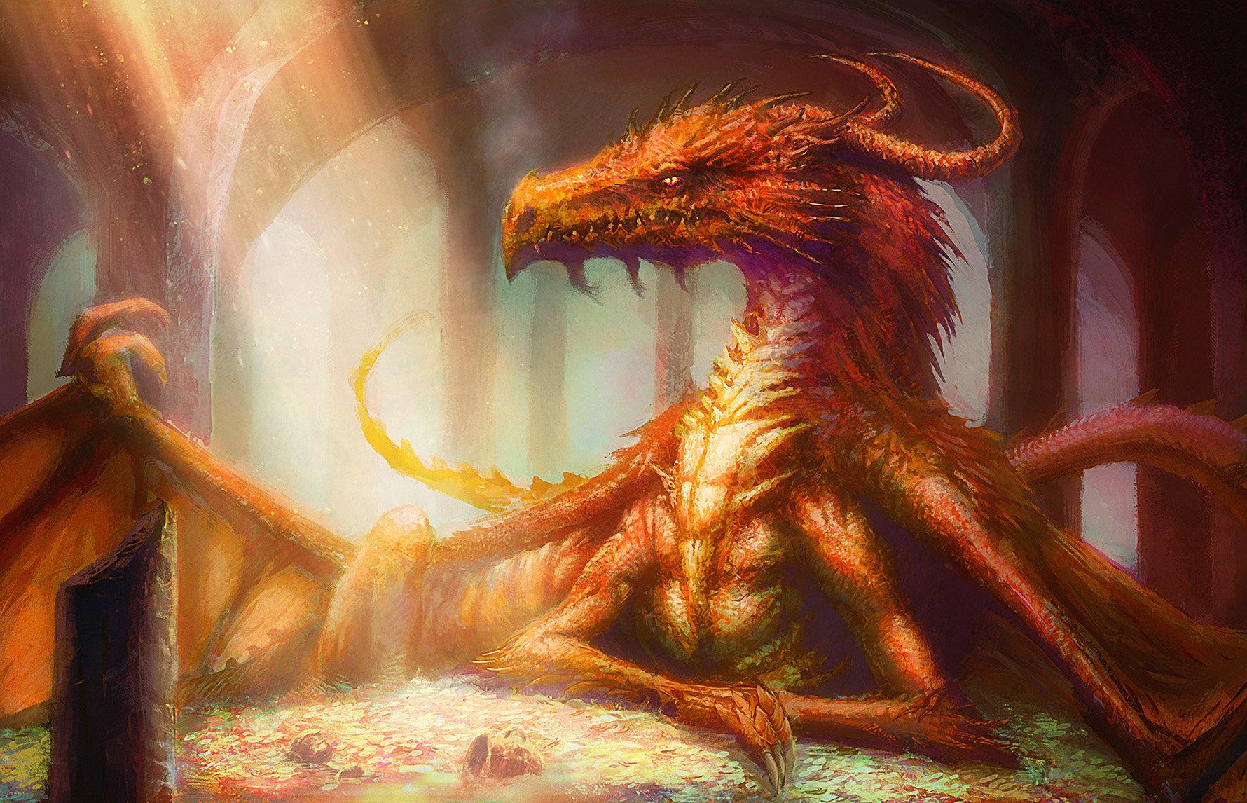 Harmincöt éves korára egy rendes sárkány... (Rajz: David Demaret)