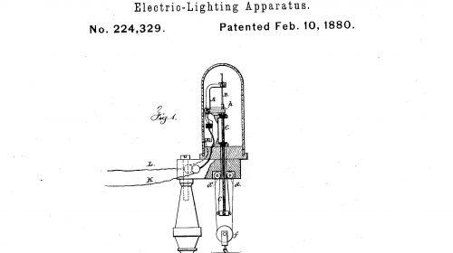 Edison lámpa szabadalma a régiebbek közül való (Fotó: USPTO)